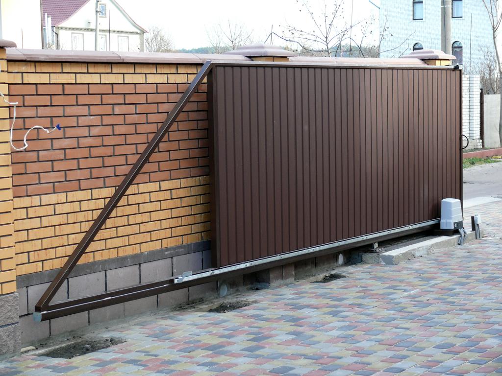 Раздвижные откатные ворота фото зубчатая профиль для электро привода откатных ворот